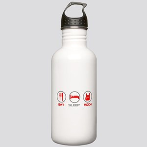 Eat Sleep Rock Sports Water Bottle