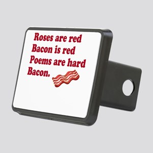 Bacon Poem Rectangular Hitch Cover