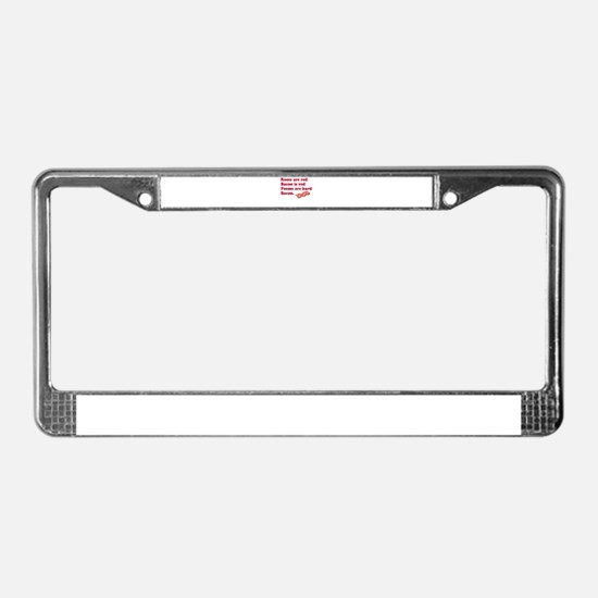 Bacon Poem License Plate Frame