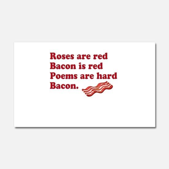 Bacon Poem Car Magnet 20 x 12