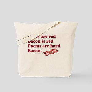 Bacon Poem Tote Bag