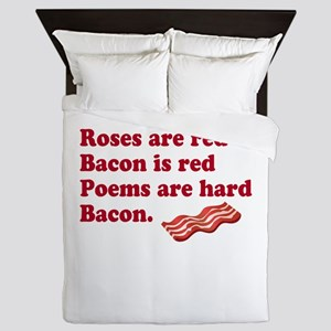 Bacon Poem Queen Duvet