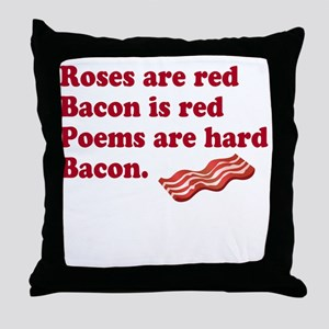Bacon Poem Throw Pillow