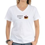 Christmas Cake Women's V-Neck T-Shirt