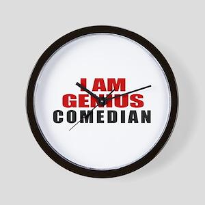 I Am Genius Comedian Wall Clock