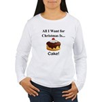 Christmas Cake Women's Long Sleeve T-Shirt
