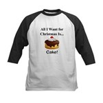 Christmas Cake Kids Baseball Jersey