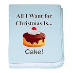 Christmas Cake baby blanket