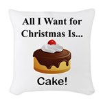 Christmas Cake Woven Throw Pillow