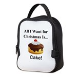 Christmas Cake Neoprene Lunch Bag