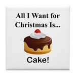 Christmas Cake Tile Coaster
