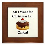 Christmas Cake Framed Tile