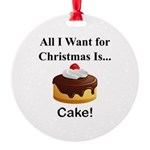 Christmas Cake Round Ornament