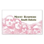 Mount Rushmore Sticker (Rectangle 10 pk)