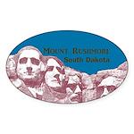 Mount Rushmore Sticker (Oval 10 pk)