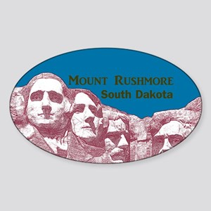 Mount Rushmore Sticker (Oval)