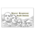 Mount Rushmore Sticker (Rectangle)