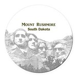 Mount Rushmore Round Car Magnet