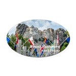 Mount Rushmore Oval Car Magnet
