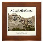 Mount Rushmore Framed Tile