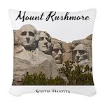 Mount Rushmore Woven Throw Pillow