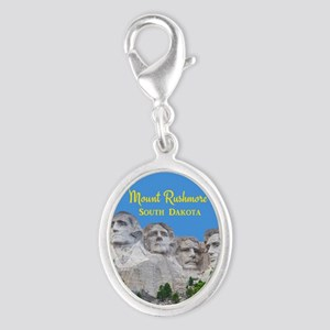 Mount Rushmore Silver Oval Charm