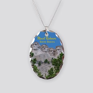 Mount Rushmore Necklace Oval Charm