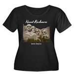 Mount Ru Women's Plus Size Scoop Neck Dark T-Shirt