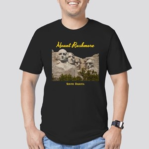 Mount Rushmore Men's Fitted T-Shirt (dark)