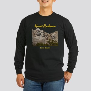 Mount Rushmore Long Sleeve Dark T-Shirt