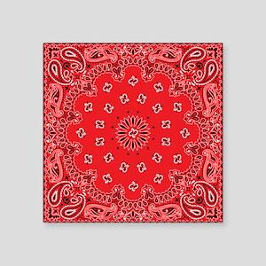 Red Bandana Pattern Sticker