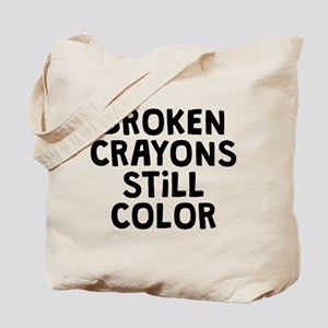 Broken Crayons Tote Bag