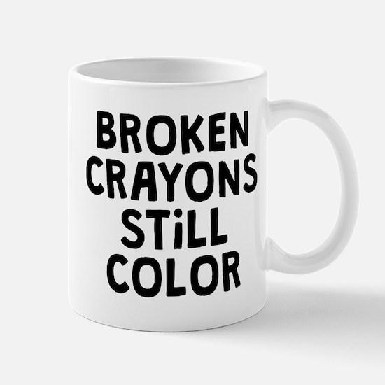 Broken Crayons Small Mug