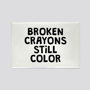 Broken Crayons Rectangle Magnet