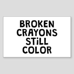 Broken Crayons Sticker (Rectangle)