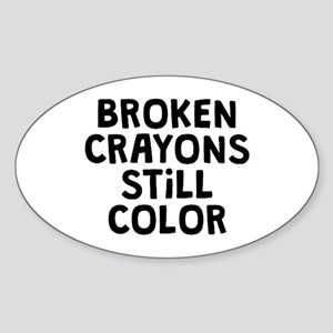 Broken Crayons Sticker (Oval)