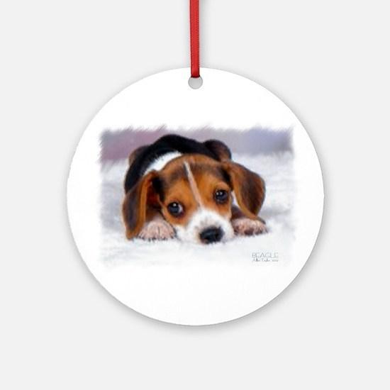 Pocket Beagle painting Ornament (Round)