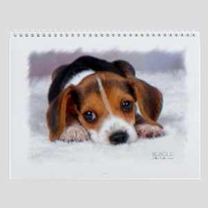 Pocket Beagle Painting Wall Calendar