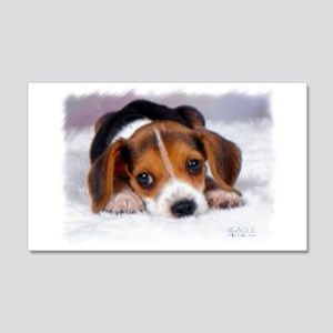 Pocket Beagle Painting 20x12 Wall Decal