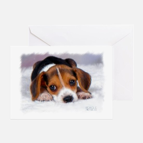 Pocket Beagle Painting Greeting Cards