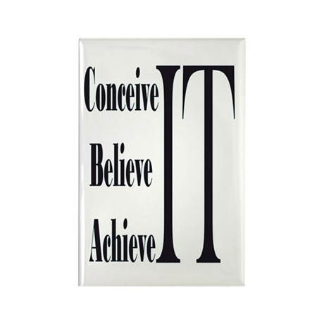 Conceive/Believe/Achieve Rectangle Magnet (100 pac