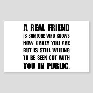 Real Friend Crazy Sticker