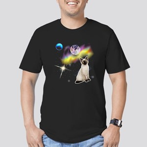 Kitty Space Men's Fitted T-Shirt (dark)
