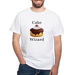 Cake Wizard White T-Shirt