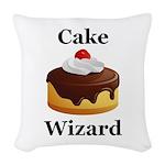 Cake Wizard Woven Throw Pillow