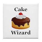 Cake Wizard Tile Coaster