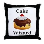 Cake Wizard Throw Pillow