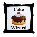 Cake Wizard Throw Pillow