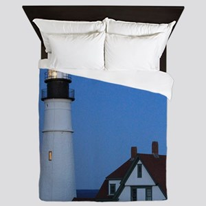 Super Moons Lighthouse View Queen Duvet