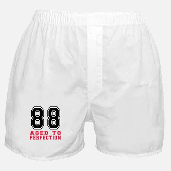 88 Aged To Perfection Birthday Design Boxer Shorts